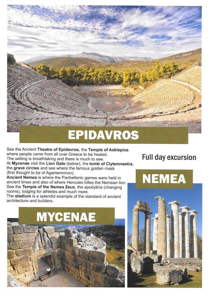 Epidavros / Mycenae / Nemea (heldags)
