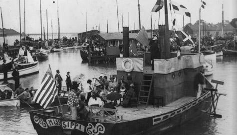 Fra havnefesterne - dette år var Missisippi temaet.