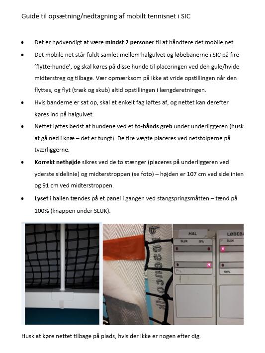 Guide til opsætning af mobilt net i SIC-hallen