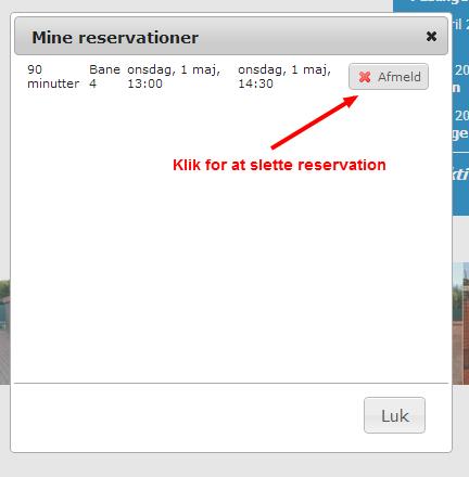 Slet reservation